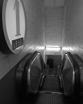 level one escalator b&w etsy 8x10